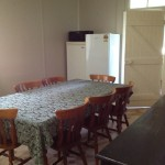 Dinning room with large table for family meals.